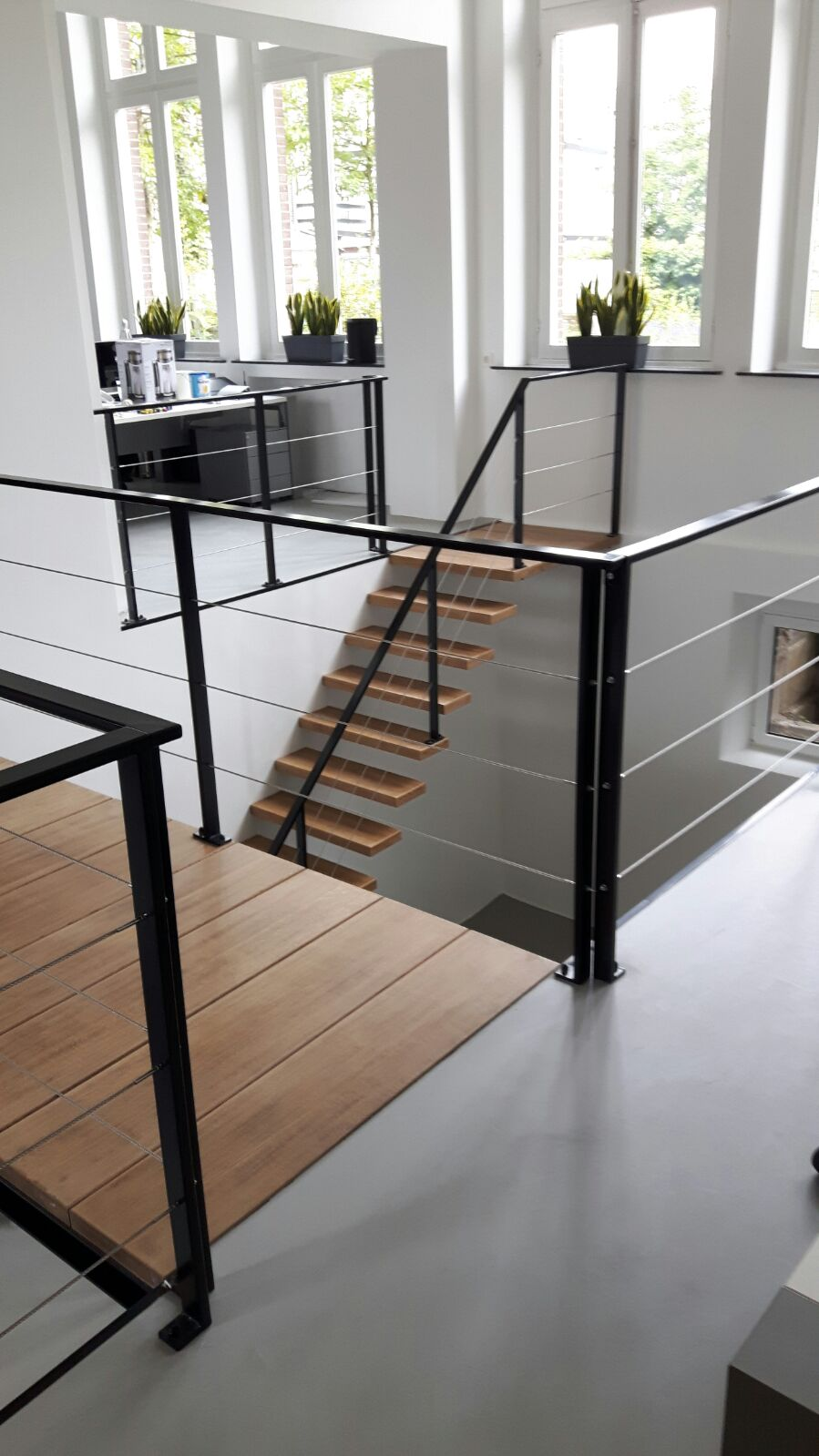 Balustrade met RVS spankabels
